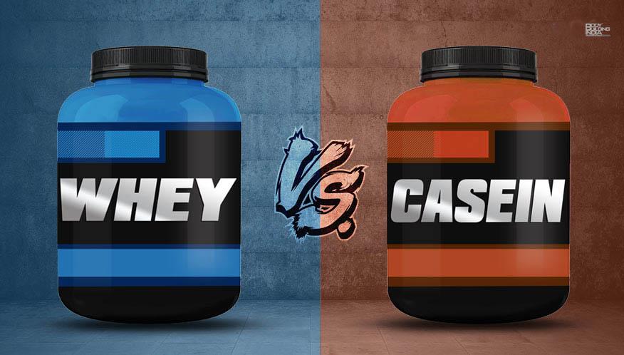 Whey mod kasein proteinpulver